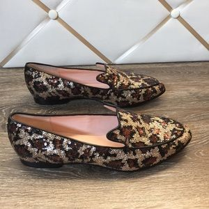5c79457063e kate spade Shoes - Kate Spade Caty Leopard Sequin Loafer Slip On New